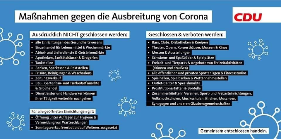Maßnahmen Corona Deutschland